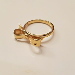 Kate Spade Gold bowtie ring (size 7)
